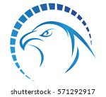 falcon eagle bird logo template ... | Shutterstock .eps vector #571292917