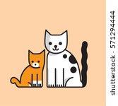 cats | Shutterstock .eps vector #571294444