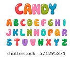 candy color kid font | Shutterstock .eps vector #571295371