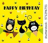 cute creative cards templates... | Shutterstock .eps vector #571296751