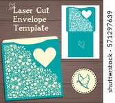 lasercut vector wedding... | Shutterstock .eps vector #571297639