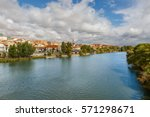 great view of zamora  the shore ... | Shutterstock . vector #571298671