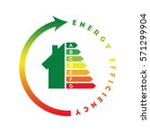 energy class concept with house ... | Shutterstock .eps vector #571299904