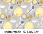 beige gray and yellow floral... | Shutterstock .eps vector #571302829