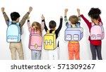 children school friends... | Shutterstock . vector #571309267