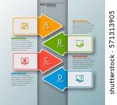 vector abstract 3d paper... | Shutterstock .eps vector #571313905