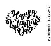 happy valentine's day written... | Shutterstock .eps vector #571319419