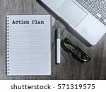 Action Plan  Typed Words On A...