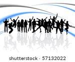 illustration of people jumping | Shutterstock .eps vector #57132022