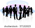 illustration of business people | Shutterstock .eps vector #57132025