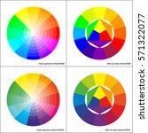 vector color spectrum with... | Shutterstock .eps vector #571322077