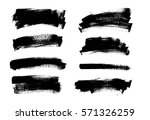 set of black paint  ink brush... | Shutterstock .eps vector #571326259