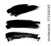 set of black paint  ink brush... | Shutterstock .eps vector #571326265