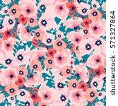 Stock vector flower pattern 571327864