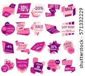 set of sale discount labels ... | Shutterstock . vector #571332229