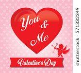 valentine's day card  banner ...   Shutterstock .eps vector #571332349