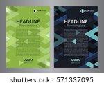 business brochure flyer design...   Shutterstock .eps vector #571337095
