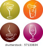 four different beverage icon... | Shutterstock .eps vector #57133834
