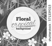 Floral Tropical Background...