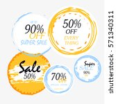 geometrical social media sale... | Shutterstock .eps vector #571340311