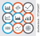 set of graphs  diagrams and... | Shutterstock .eps vector #571341607