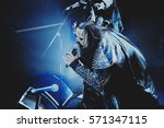 music band lordi performing... | Shutterstock . vector #571347115
