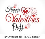 abstract artistic red valentine ... | Shutterstock .eps vector #571358584