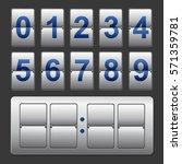 countdown timer  white color... | Shutterstock .eps vector #571359781