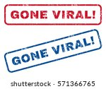 gone viral  text rubber seal... | Shutterstock .eps vector #571366765