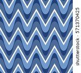 simple blue scalloped seamless... | Shutterstock .eps vector #571370425