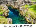 cliffs and deep fissure in... | Shutterstock . vector #571370569