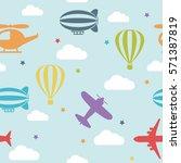 seamless vector bright pattern... | Shutterstock .eps vector #571387819