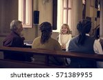 church people believe faith... | Shutterstock . vector #571389955