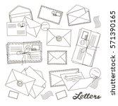 letter and envelope   Shutterstock .eps vector #571390165