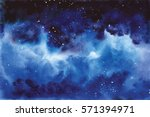 watercolor universe sky  stars  ...
