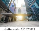 windows of skyscraper business... | Shutterstock . vector #571395091