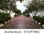 an alley in front of rented... | Shutterstock . vector #571397881