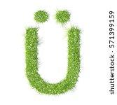 u grass letter on a white...   Shutterstock .eps vector #571399159