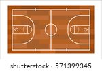 basketball field vector... | Shutterstock .eps vector #571399345