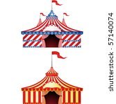 big top circus | Shutterstock .eps vector #57140074