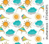 vector seamless pattern with...   Shutterstock .eps vector #571404391
