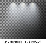 scene illumination. cold light... | Shutterstock .eps vector #571409209