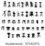 stool | Shutterstock .eps vector #57141571