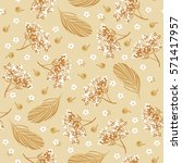 seamless floral background with ... | Shutterstock .eps vector #571417957