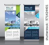 roll up brochure flyer banner... | Shutterstock .eps vector #571424401
