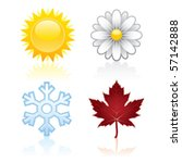 seasons | Shutterstock .eps vector #57142888