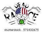 skull design for t shirt poster ... | Shutterstock .eps vector #571432675