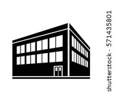 two storey building icon vector | Shutterstock .eps vector #571435801
