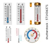 thermometer set | Shutterstock .eps vector #571436371