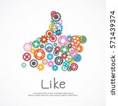 gears like symbol for social... | Shutterstock .eps vector #571439374